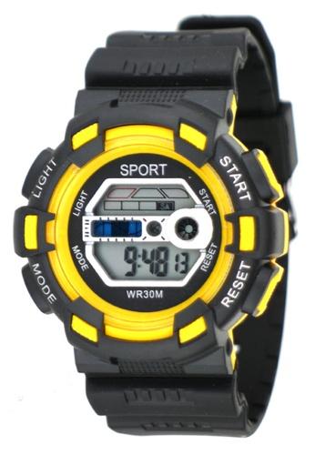 Dooka yellow Multifunction Sports Watch WR30M DO079AC69MIGPH_1