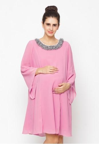Chantilly pink Maternity Dress 51030 D30BBAA30452F4GS_1