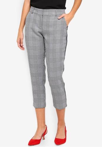 Dorothy Perkins grey Petite Grey Side Stripe Trousers C2870AA944F57CGS_1