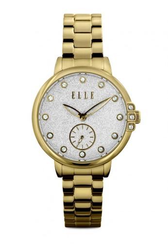 ELLE gold Fashion Ladies Watch EL900AC64ILVMY_1