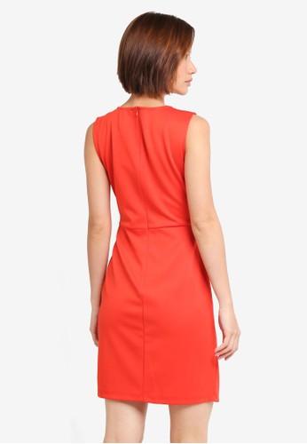Jual ZALORA Pleated Draped Dress Original