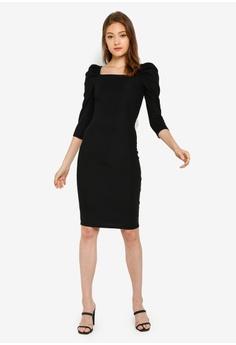 2460ad5c River Island Long Sleeve Poppy Puff Sleve Dress S$ 54.90. Sizes 6 8 10 12 14
