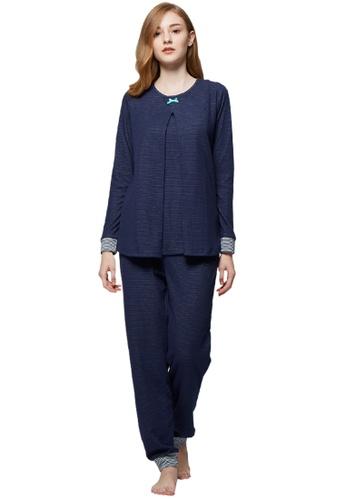 e7e4e6ce4ff5f Mamaway blue Cotton Candy Maternity & Nursing Pajamas/ Sleepwear Set  F8016AA4ADBCDEGS_1