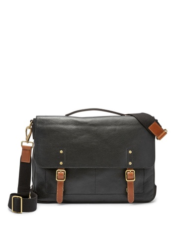 Fossil black Fossil Defender Black Leather Messenger MBG9345001 FO164AC0SYO9MY_1