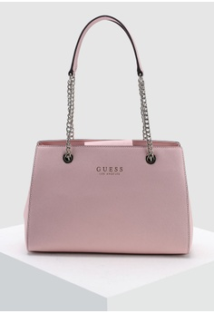 9255a8a473 Guess pink Robyn Girlfriend Satchel Bag 94694AC6CF8221GS 1