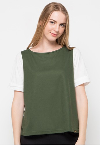 Gaff white and green Sarah Blouse GA640AA21USWID_1