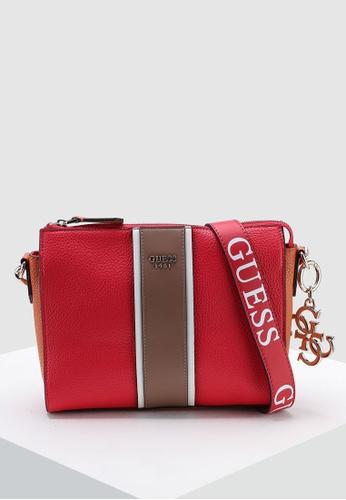 Guess red La Hip Crossbody Top Zip Bag FC405AC85CD91EGS 1 92bed854f7491