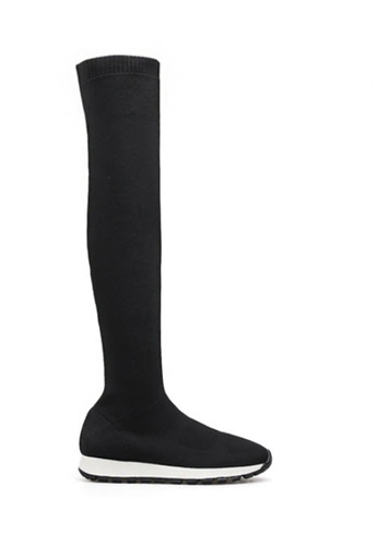 Twenty Eight Shoes black Over Knee Socking Boots 8002-2 13C3DSHD963D3DGS_1