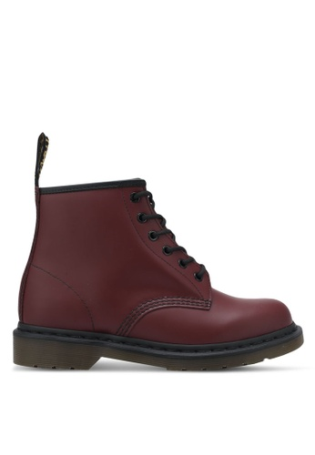 Dr. Martens red 101 6 Eyelet Boots DR086SH0SF90MY_1
