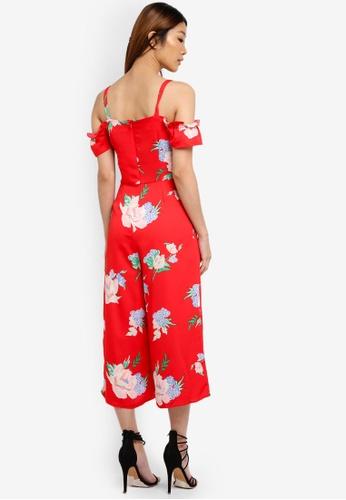 c8d9659ce12 Buy Miss Selfridge CNY Floral Print Cold Shoulder Jumpsuit Online ...