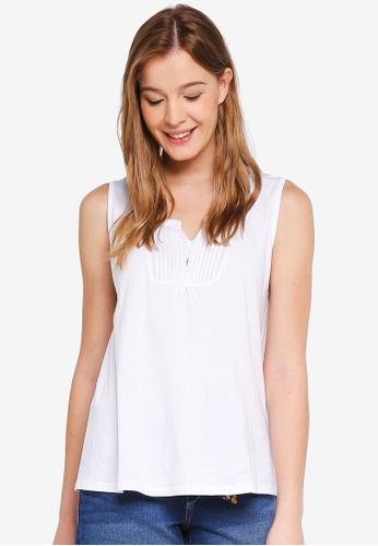OVS white Vest Blouse 61C52AAB5BF2F7GS_1