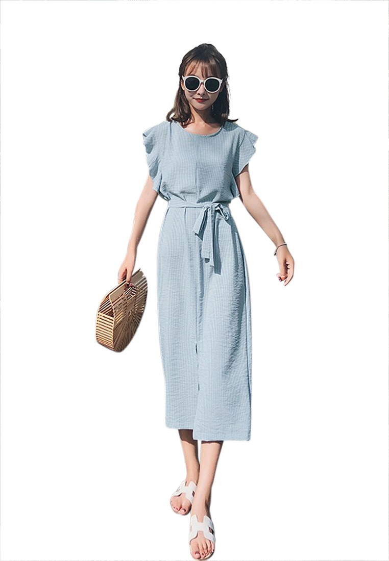 New One Sunnydaysweety A051644 Blue Flounce Blue Piece 2018 Dress FPxcpnUOUZ