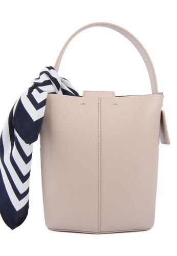 RO Bags beige RO Terranova Felucca Mini Top Handle Bucket Bag in Rose Cloud/Black 90A39AC194C46BGS_1
