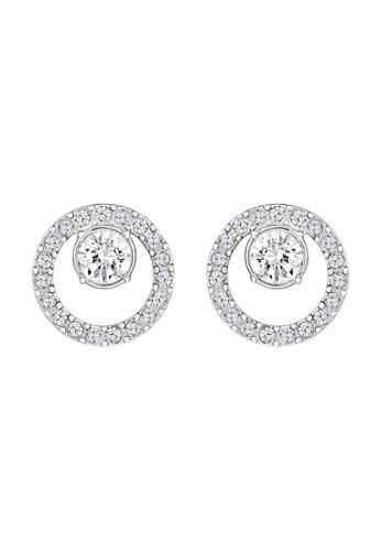 Swarovski 銀色 Creativity Circle Pierced Earrings C0DCCACFBF09E7GS_1