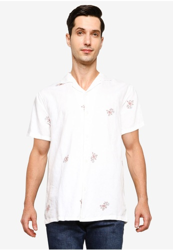 Abercrombie & Fitch white Floral Embroidery Shirt 10BC3AAEFBCE08GS_1