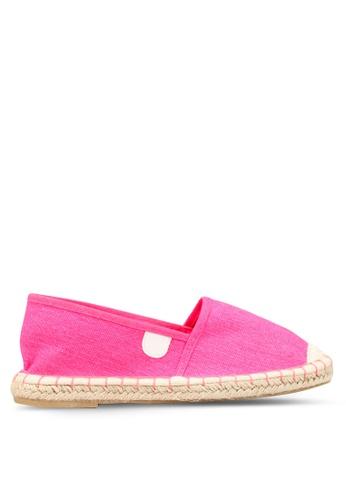 OVS 粉紅色 帆布Espadrilles E995CSH984C92FGS_1