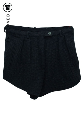 Reformation black Pre-Loved reformation Black Thick Shorts with Pockets 23700AA0BBAE2CGS_1