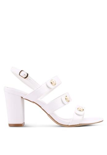 VINCCI white Strappy Heels 9B233SH684E5D8GS_1