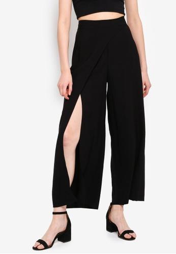 8b810c0bd3be3 Buy TOPSHOP Slash Palazzo Trousers Online on ZALORA Singapore