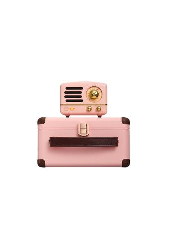 MUZEN pink Muzen OTR Metal Flamingo Pink Portable Audio Speakers with FM Radio. 8DE71ES64B8A6AGS_1