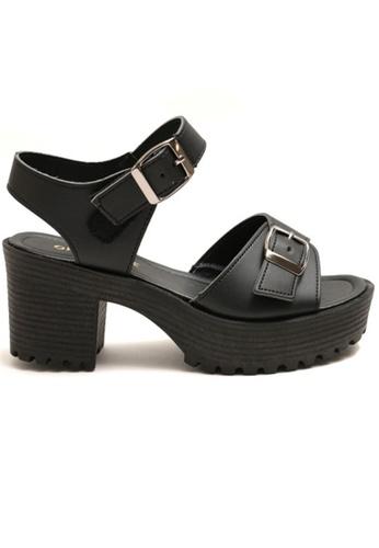 Crystal Korea Fashion black Korean-made Wild Summer Thick-soled Shoes 8F3F8SH3D6B79FGS_1