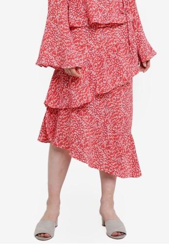 Glamorous multi Asymmetric Ruffled Skirt F8404AA1CED681GS_1