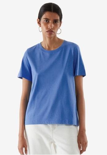COS blue Regular Fit T-Shirt 96198AA5114DC6GS_1