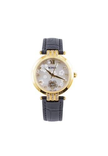 BONIA black and gold Bonia B10134-2213S - Jam Tangan Wanita - Black Gold BO710AC68AZJID_1