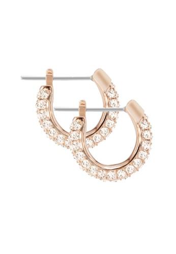 Swarovski gold Stone Small Pierced Earrings 22B12AC110DBF4GS_1