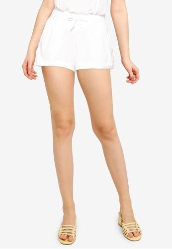 Mango white Texture Cotton Shorts 8B3F7AA6523917GS_1