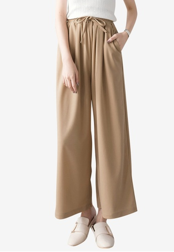 Tokichoi red Chiffon Wide Leg Pants 20FE5AA5120381GS_1