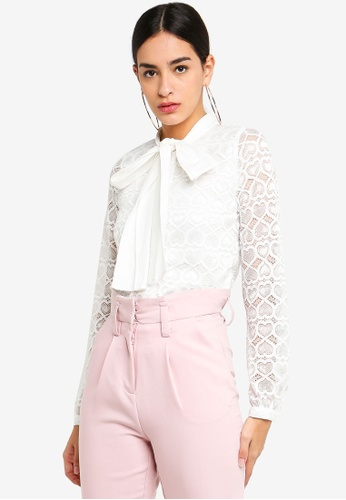 Sister Jane white On Your Radar Blouse 0DD97AA801F49BGS_1