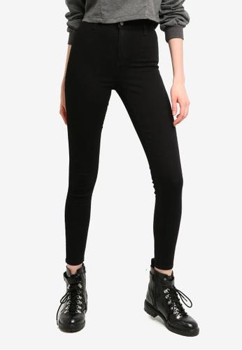 TOPSHOP black Black Joni Jeans C87D9AA6952F86GS_1