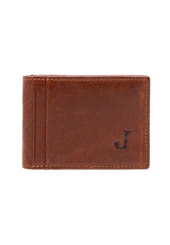 Jack Studio brown Jack Studio Leather Small Slim Front Pocket Bifold Card Holder 29B93AC12D0456GS_1