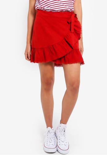 Cotton On red Woven Tessa Wrap Skirt A923AAAF37955EGS_1