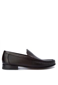 A. Testoni brown Men's Dress Shoes Classic Loafers AT299SH0K4BZPH_1