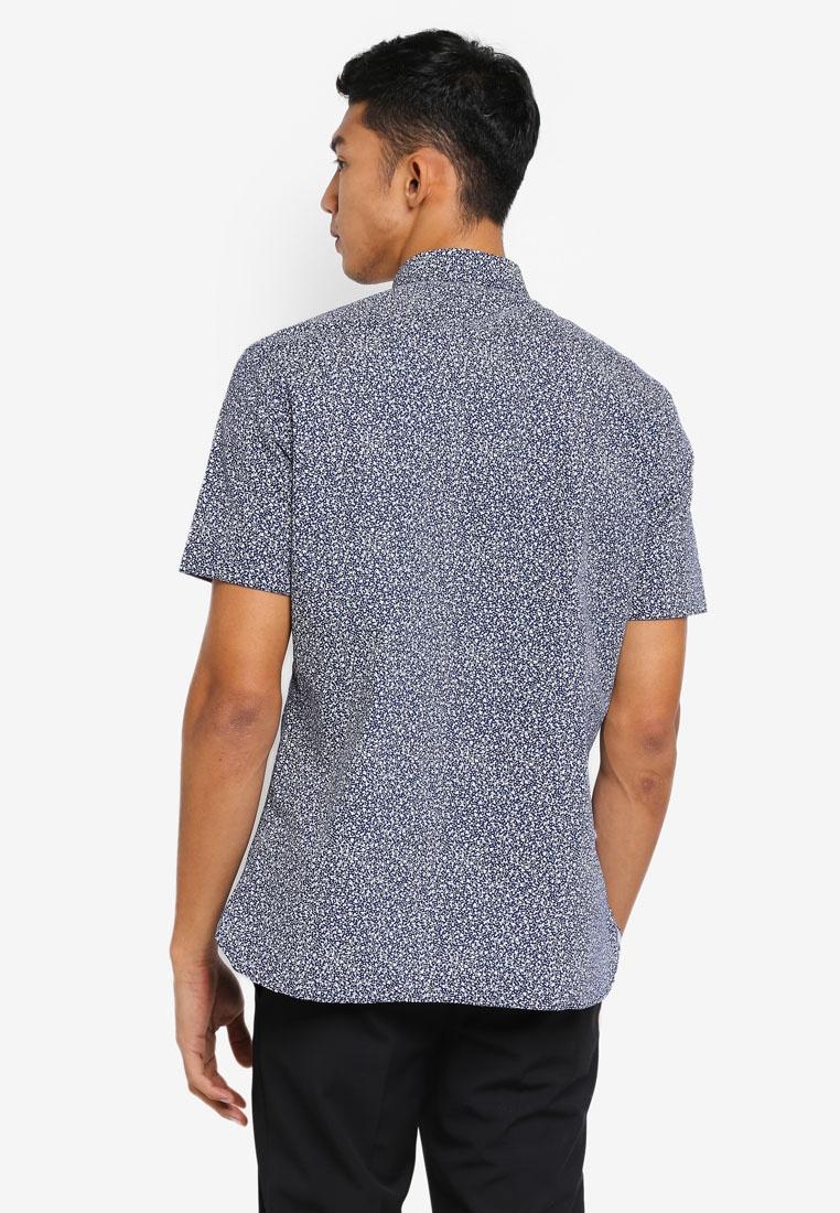 Navy Print Floral Shirt Sleeve Dark G2000 Short dZqZY