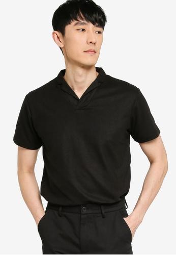 ZALORA BASICS black Revere Collar Polo 3F056AABF26256GS_1