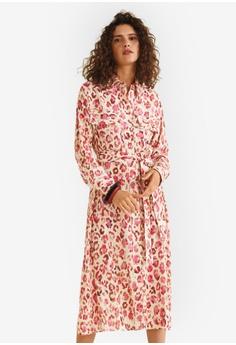 b66ff2f03d MANGO red Midi Printed Dress 27F05AA089EB87GS 1