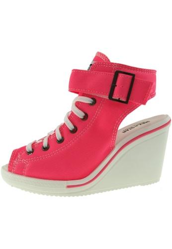 Maxstar 粉紅色 新款韩国鞋775-Open時尚帆布布混合女粉紅色 US Women Size MA345SH67HCETW_1