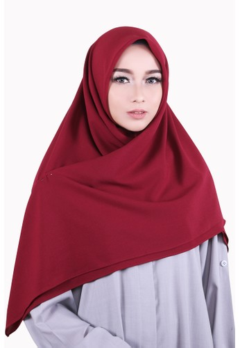 Zelena Shaylee Hijab Square - Red Heart