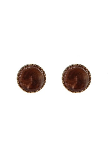 niko and ... brown Stud Earrings CD4A4AC6792540GS_1