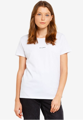 French Connection white Logo Plastic Tee 787F7AAE21BBEAGS_1
