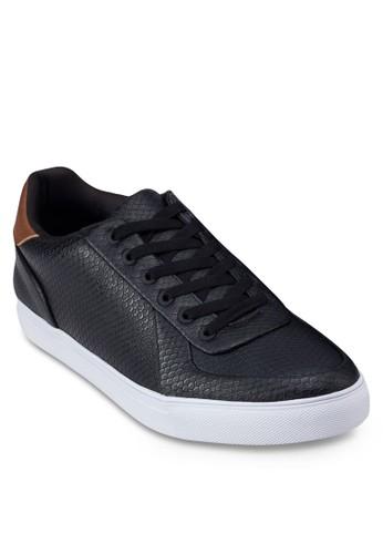 鵝卵石仿皮繫帶運動鞋, 鞋, 休閒esprit台灣outlet鞋