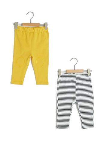 LC Waikiki yellow Cotton Baby Pants with Waist Rubber 7DDBFKA23B495DGS_1
