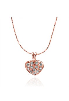Sherie Heart Diamond Rose Gold Necklace