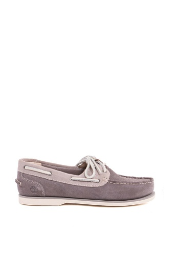 Timberland grey Classic Boat Unlined Boat Shoes 8593FSH3B36333GS_1
