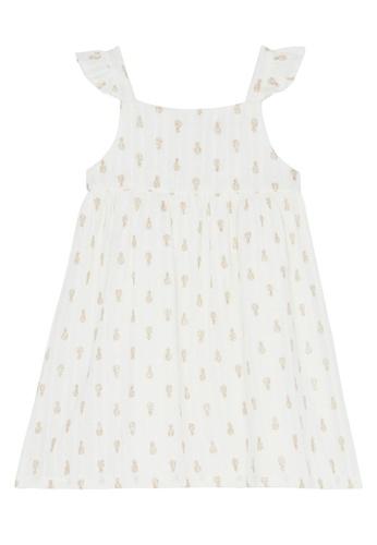 Du Pareil Au Même (DPAM) white Ruffle Sleeve Dress 433D3KA3142888GS_1