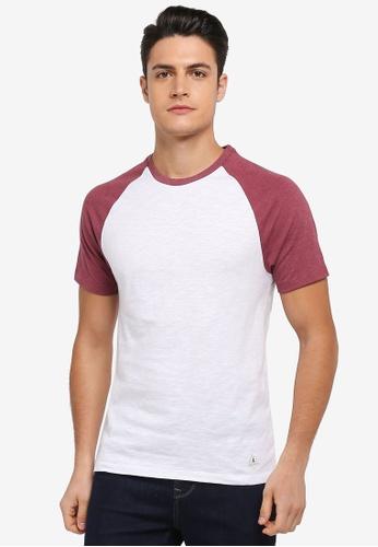 Jack Wills red Verwood Raglan T-shirt 12E61AAFEB6A01GS_1