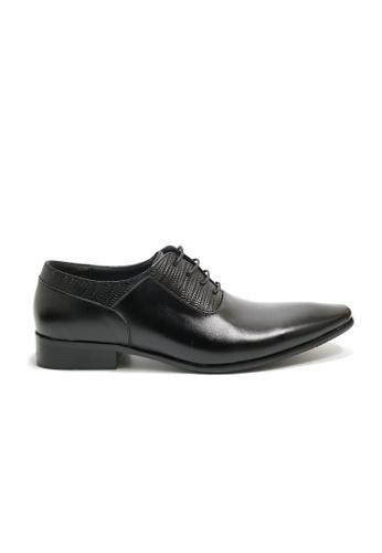 Kings Collection black Ripley Leather Shoes KI358SH0GOZ0SG_1